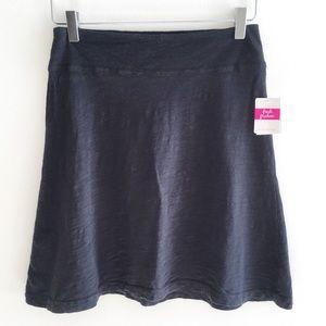 NWT Fresh Produce Marina Skirt XS Black Cotton